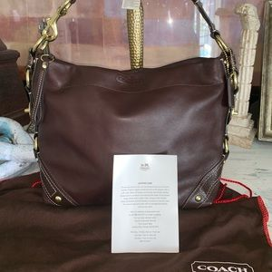 Coach leather bag with dust bag